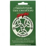 Silver Plated Christmas Decoration Celtic Knot England 0969